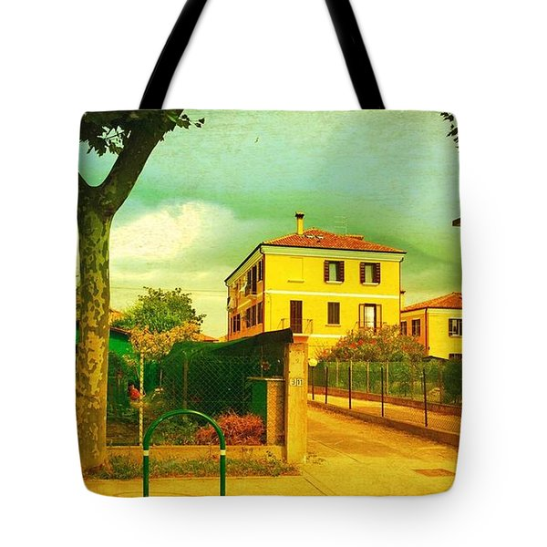 Tote Bag featuring the photograph The Yellow House by Anne Kotan