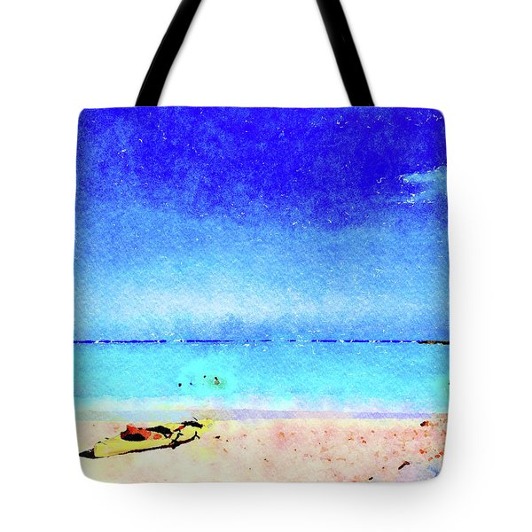 The Yellow Kayak Tote Bag