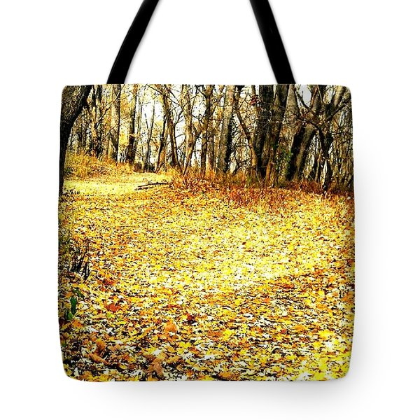 The Yellow Leaf Road Tote Bag