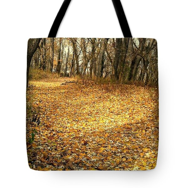 The Yellow Leaf Road- Version II  Tote Bag