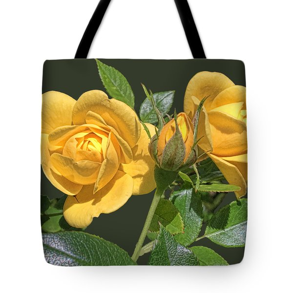 The Yellow Rose Family Tote Bag by Daniel Hebard