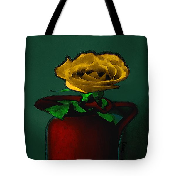 The Yellow Rose Painting Tote Bag