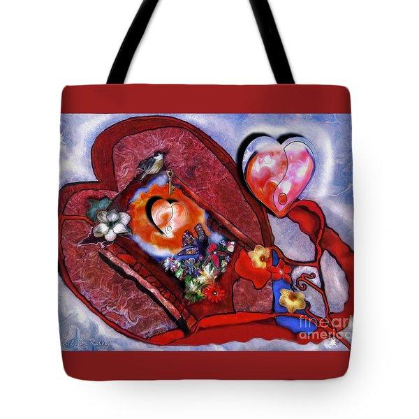 The Yin And Yang Of My Heart Tote Bag