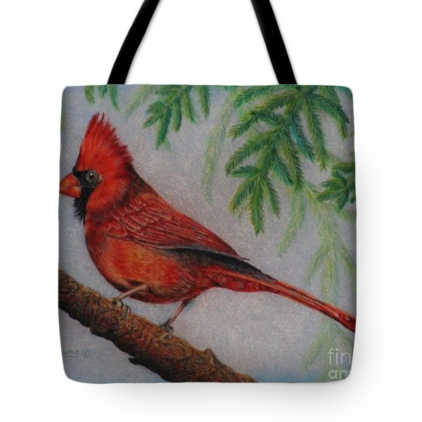 The Young Cardinal Tote Bag