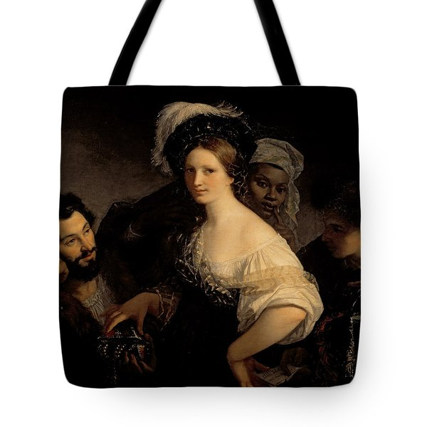 The Young Courtesan Tote Bag by Alexandre Francois Xavier Sigalon