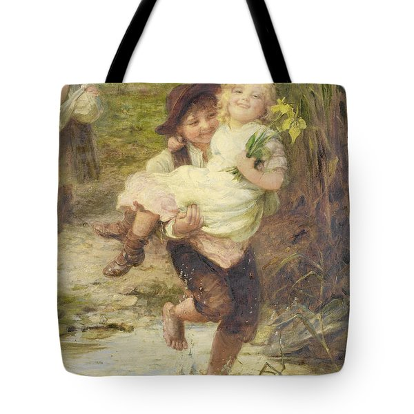 The Young Gallant Tote Bag by Fred Morgan