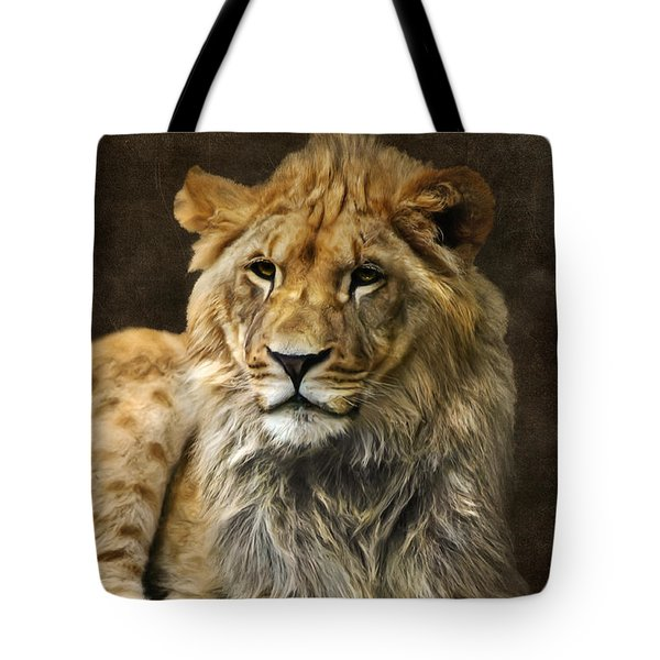 The Young Lion Tote Bag by Angela Doelling AD DESIGN Photo and PhotoArt