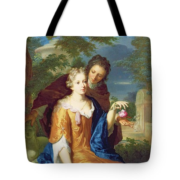 The Young Lovers Tote Bag by Gerard Hoet