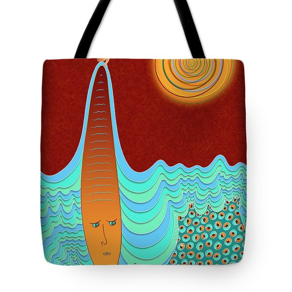 The Young Man And The Sea Tote Bag