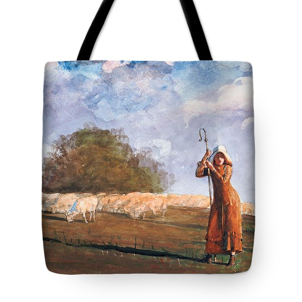 The Young Shepherdess Tote Bag by Winslow Homer