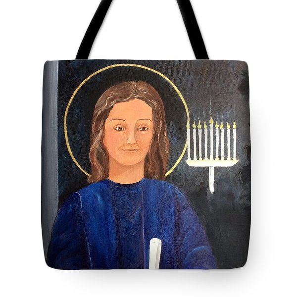 Tote Bag featuring the painting The Young Teacher by Ellen Canfield