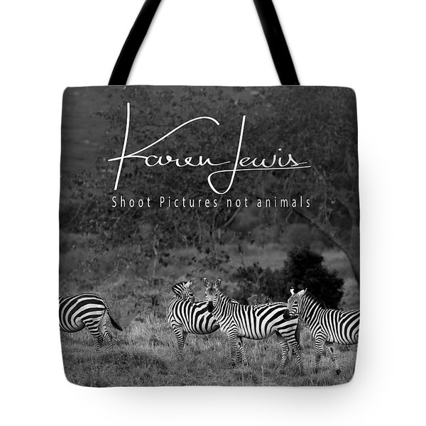 Tote Bag featuring the photograph The Zebra Tree by Karen Lewis