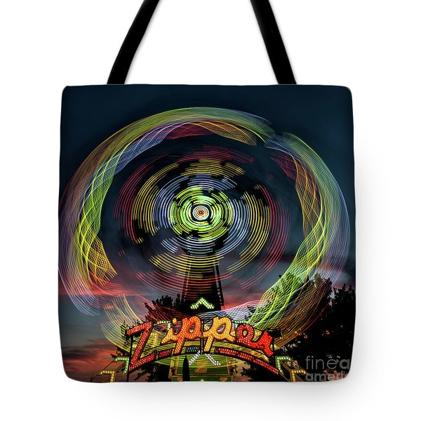 The Zipper Motion Art By Kaylyn Franks Tote Bag