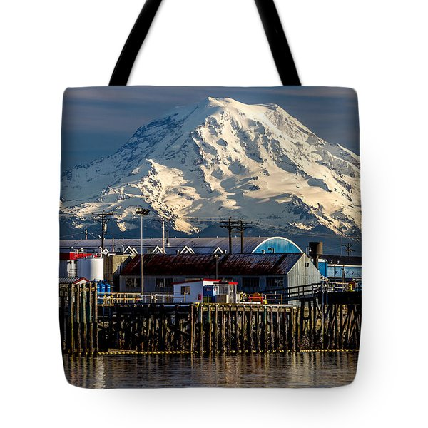 Thea Foss Waterway And Rainier 2 Tote Bag