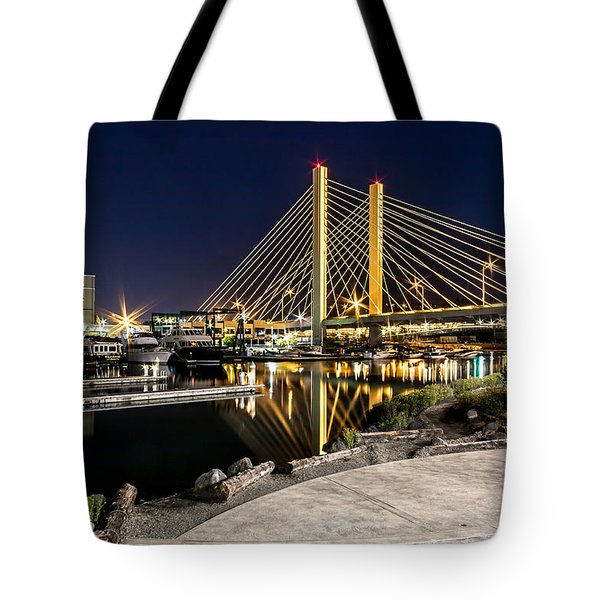 Thea's Landing And The 509 Bridge Tote Bag