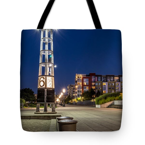 Thea's Landing Boardway During Blue Hour Tote Bag