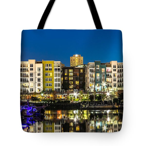 Thea's Landing On The Foss Waterway Tote Bag