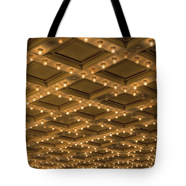 Theater Ceiling Marquee Lights Tote Bag by David Gn