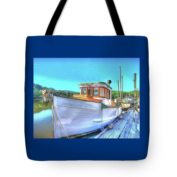 Thee Old Dragger Boat Tote Bag by Thom Zehrfeld