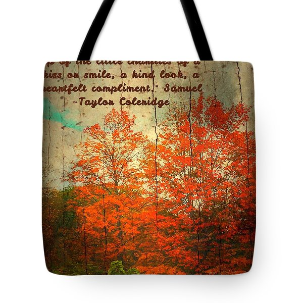 The Happiness Of Life By Taylor Coleridge Tote Bag