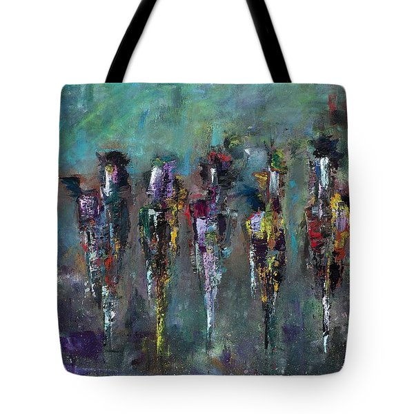 Then Came Seven Horses Tote Bag