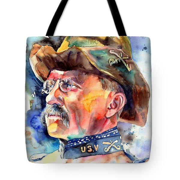 Theodore Roosevelt Painting Tote Bag