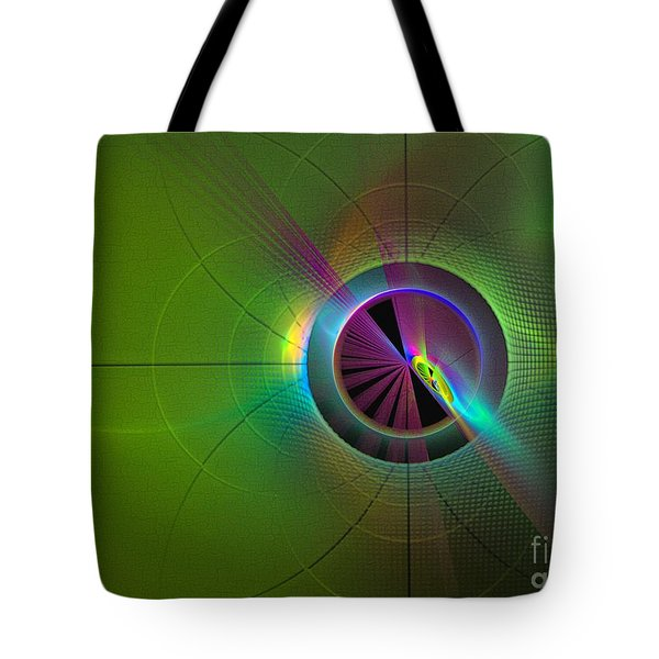 Theory Of Green - Abstract Art Tote Bag