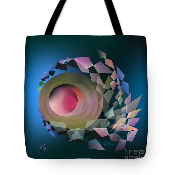 Tote Bag featuring the digital art Theory Of Joke by Leo Symon