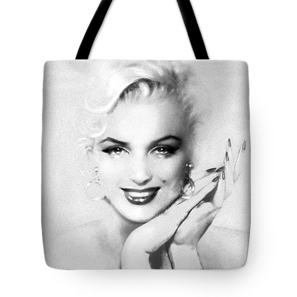 Theo's Marilyn 133 Bw Tote Bag
