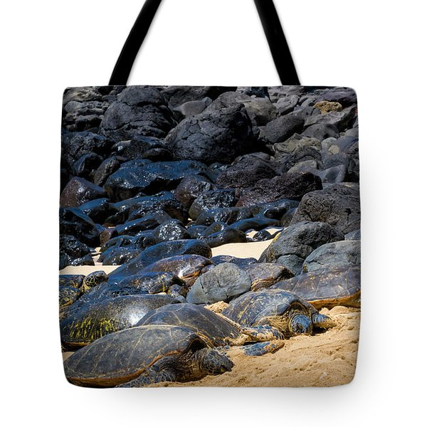 Tote Bag featuring the photograph There Has Got To Be More Room On This Beach  by Jim Thompson