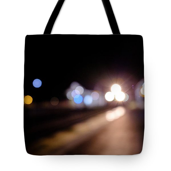 There Is A Train Coming In Winter Park Florida Tote Bag