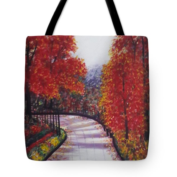 There Is Always A Bright Road Ahead Tote Bag by Usha Rai