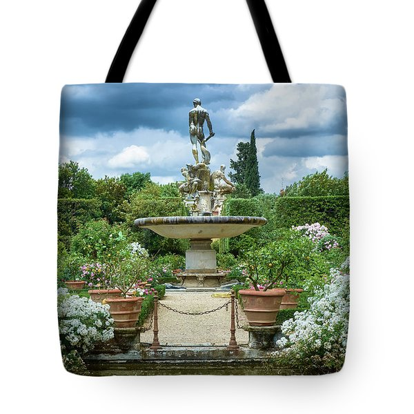 There Is An Island In Your Garden Tote Bag