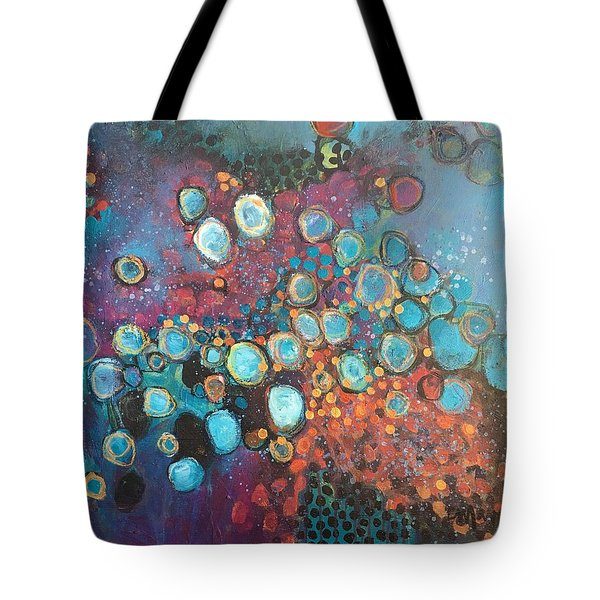 Tote Bag featuring the painting There Is Great Gratitude In The Reckoning by Laurie Maves ART