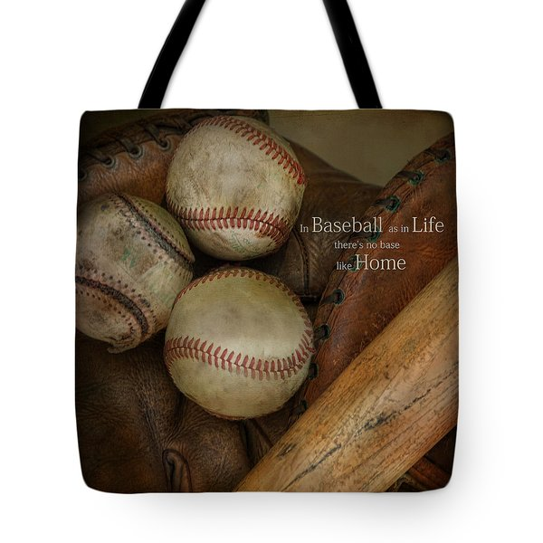 Tote Bag featuring the photograph There Is No Base Like Home by Robin-Lee Vieira