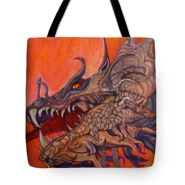 There Once Were Dragons Tote Bag