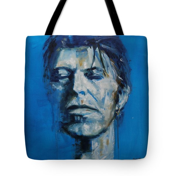 There S A Starman Waiting In The Sky Tote Bag