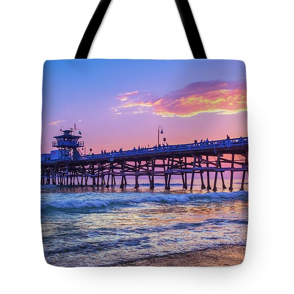There Will Be Another One - San Clemente Pier Sunset Tote Bag
