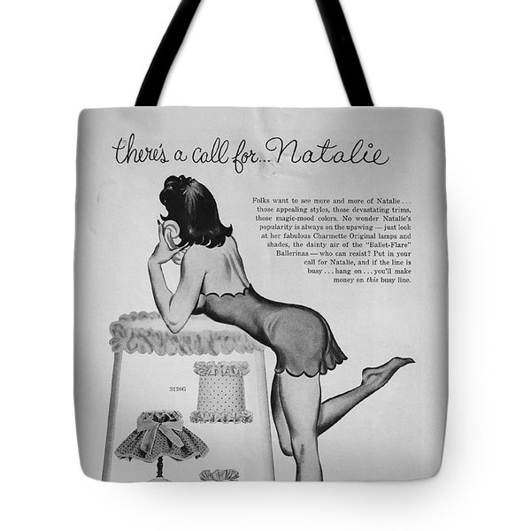 Tote Bag featuring the digital art there's a Call for...Natalie by Reinvintaged