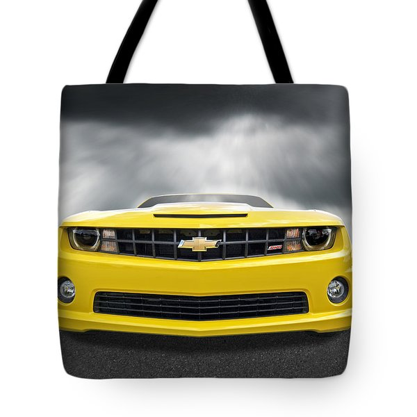 There's A Storm Coming - Camaro Ss Tote Bag