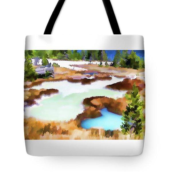 Thermal Pools, West Thumb Ynp Tote Bag