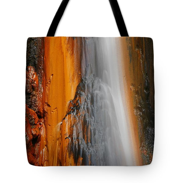 Thermal Waterfall Tote Bag by Gaspar Avila