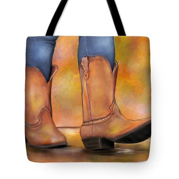 These Boots Are Made For Walkin  Tote Bag