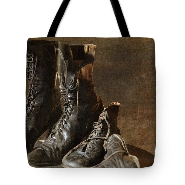 These Boots Are Made For Walking Tote Bag by Liane Wright