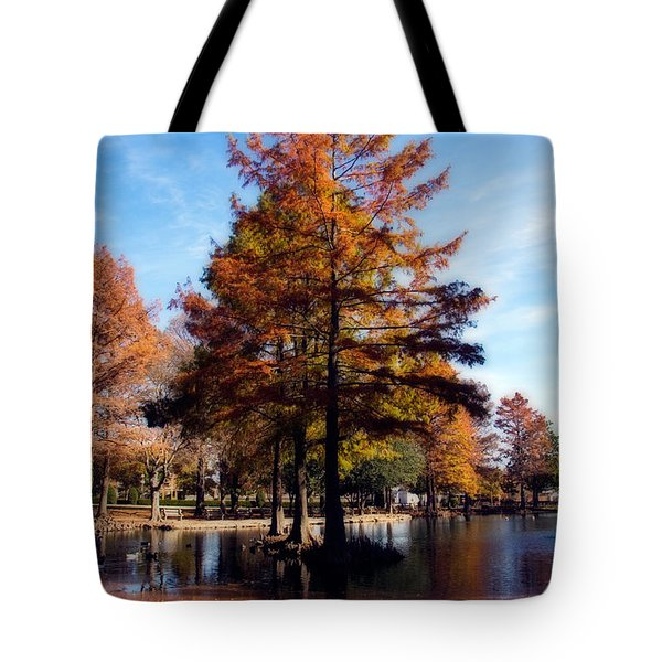 Theta Pond Tote Bag by Lana Trussell