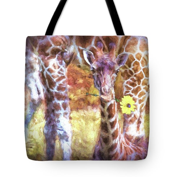 The Whimsical Giraffe  Tote Bag