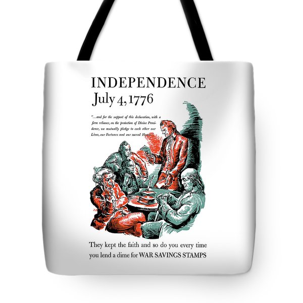 They Kept The Faith - Ww2 Tote Bag by War Is Hell Store