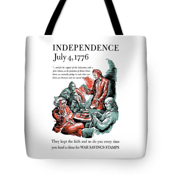 They Kept The Faith - Ww2 Tote Bag