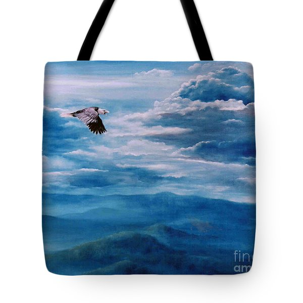 They Shall Mount Up On Wings Of Eagles Tote Bag by Ann  Cockerill