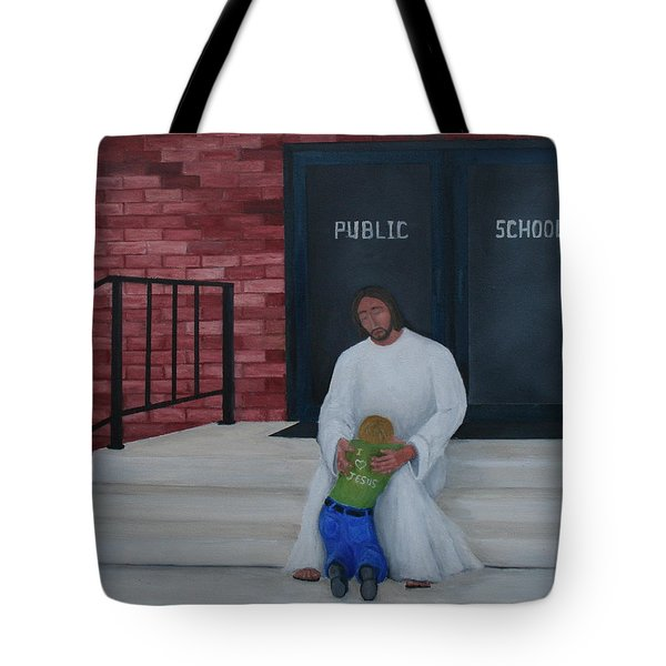 They Won't Let Me In Either. Tote Bag by Timothy Smith